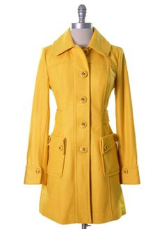 Sunshine Yellow Coat by Tulle
