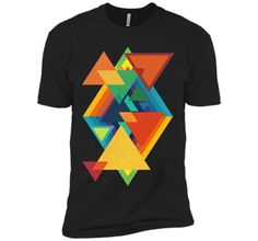 Amiable Vintage Abstract Triangles Collage 2017 T Shirt