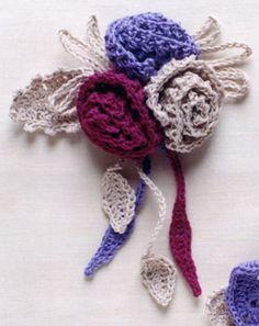 Crochet Flower Bouquet Brooch ~ Inspiration!                    ❥Teresa Restegui http://www.pinterest.com/teretegui/ ❥