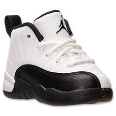 Boys' Toddler Air Jordan Retro 12 Basketball Shoes | FinishLine.com | White/Black/Taxi/Varsity Red