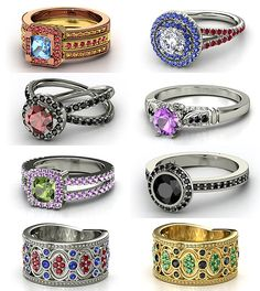 Rings inspired by Marvel I like the one with the purple stone so much (Hawkeye), that it got it's own pin