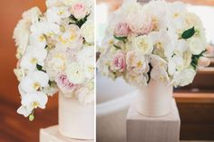 7 Crossline Community Church Wedding Ceremony Blush Ivory Flowers