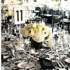 Damask...black and white. @Susan Strube Pennington I love this!!!! But with red flowers!
