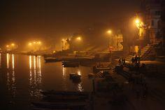 Fog on the Varanasi Ghats