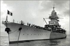 Vintage photographs of battleships, battlecruisers and cruisers.: French battleship Richelieu.