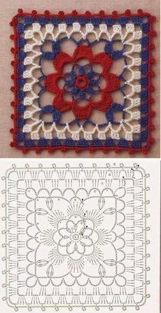 Transcendent Crochet a Solid Granny Square Ideas. Inconceivable Crochet a Solid Granny Square Ideas. Point Granny Au Crochet, Granny Square Crochet Pattern, Crochet Diagram, Crochet Chart, Crochet Squares, Granny Squares, Crochet Motif Patterns, Crochet Blocks, Crochet Designs