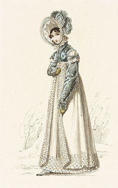 Walking Dress, La Belle Assemblee, March 1819.