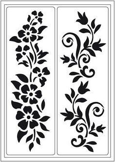 "Stencil ""Summer meadow"" self-adhesive, stencil, flowers Stencil Patterns, Stencil Designs, Window Glass Design, Steel Gate Design, Cnc Cutting Design, Plasma Cutter Art, Fabric Paint Designs, Wood Christmas Tree, Christmas Decor"