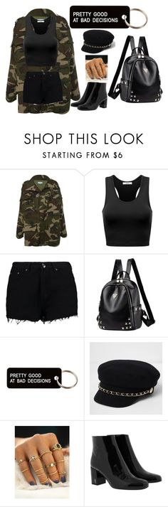 """""""PRETTY GOOD AT BAD DECISIONS"""" by beta13-04 on Polyvore featuring moda, Boohoo, Various Projects, River Island y Yves Saint Laurent"""