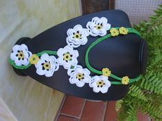 Necklace with daisy
