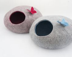 Cat cave Cat bed Cat cocoon Pet furniture Felted от Ausrafeltshop