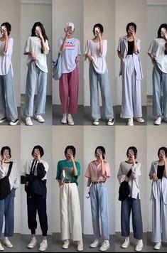 Korean Girl Fashion, Korean Fashion Trends, Korean Street Fashion, Ulzzang Fashion, Korea Fashion, Look Fashion, Korean Casual Fashion, Korean Casual Outfits, Korean Outfit Street Styles