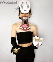 Jody Steel - No-Face from Spirited Away! Happy Halloween 👻 | Facebook Spirited Away, Best Cosplay, Crop Tops, Cosplay Ideas, Happy Halloween, Fandom, Facebook, Steel, Women
