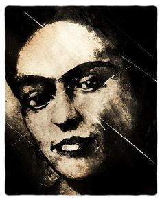 Frida Kahlo original art by Hope Malott