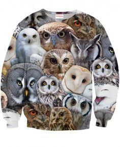 SOWY Bluza Bez Kaptura Full Print