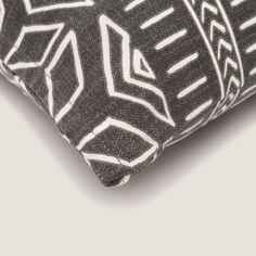 Iman Cushion Cover in Charcoal