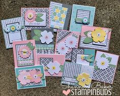 With spring (finally) in full bloom, it's time to celebrate the season with a 'One Sheet Wonder' Card Kit featuring the 'OSW' technique. OSW - The use One Sheet Wonder, Spellbinders Cards, Fun Fold Cards, Some Cards, Time To Celebrate, Card Sketches, Card Kit, Scrapbook Cards, Scrapbooking