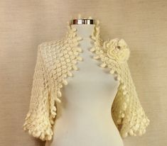 For the Good Times /  Ivory Shrug Wedding Bridal by lilithist, $155.00