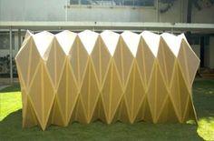 Grand prix du concours Lépine : Mathieu a inventé une yourte pliable | Pearltrees Paper Architecture, Minimal Architecture, Diy Kits, Pavilion, Habitats, Origami, Shelter, 3d Printing, Table Lamp