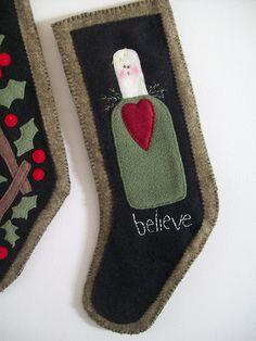 Primitive Christmas Stocking (Angel) | Flickr - Photo Sharing!
