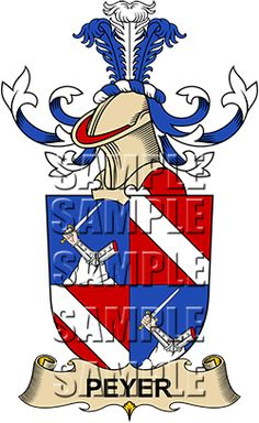 Peyer Family Crest apparel, Peyer Coat of Arms gifts