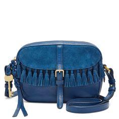 Fossil Kendall Marine Leather Zipper Closure Front Flap Pocket Cross Body #Doris_Daily_Deals #Bonanza www.bonanza.com/listings/430054954