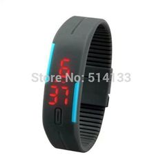 luxury Fashion Mens Lady Women Touch Digital Red Led Silicone