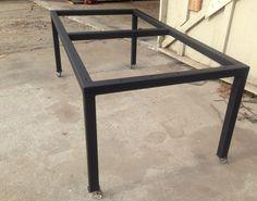 Metal Table Base | Flat Black | Metal Caster Wheels