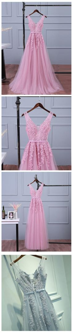 V Neckline Purple Lace Evening Prom Dresses, Popular Lace Party Prom Dresses, Custom Long Prom Dresses, Cheap Formal Prom Dresses, 17190 #prom #promdress #promdresses #2018prom #lacepromdress #sposadresses #longpromdresses #cheappromdresses