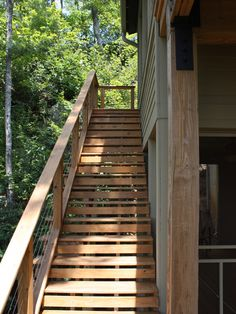 modern wood outdoor stairs - Google Search