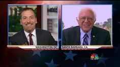 """The host of NBC'sMeet the Pressdid not mincewords when Bernie Sanders was a guest on his show today, directly saying that it sounded like his strategy to win over superdelegates was a bit """"hypocritical."""" Chuck To..."""