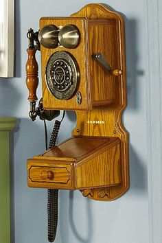 Old Phones Vintage Antique Telephones Pay Phone County 1920u0027s Rotary Oak  Wood | For The Home | Pinterest | Telephone, Vintage Antiques And Woods