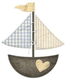 "Photo from album ""Aye Aye Captain"" on Yandex. Baby Embroidery, Machine Embroidery Patterns, Applique Patterns, Clipart Baby, Boat Boots, Pach Aplique, Nautical Clipart, Nautical Quilt, Use E Abuse"