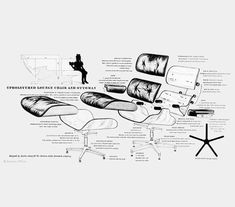 Eames Chair- Exploded View Exploded View, Eames, Movie Posters, Movies, Chair, Films, Film Poster, Cinema, Stool