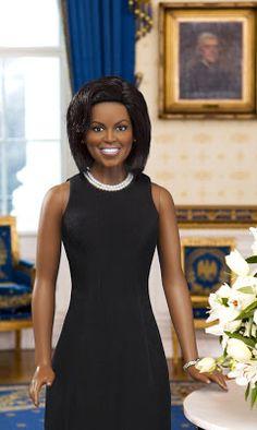 Preto Boneca Coletando: herança Boneca de Franklin Mint, Michelle Obama Primeira Dama do Estilo