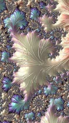jewel tones . fractal  -  This one is just gorgeous.  Didn't know where to put it.
