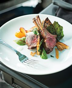 Lamb chops with rutabaga and greens at The French Kitchen | Baltimore magazine Photo by Scott Suchman