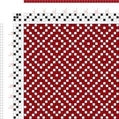 draft image: 12 schäftig mit 12 Karten 68, Lehr-Methode der Weberei, Ferdinand A. Langewald, 3S, 3T