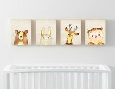 Set of 4 Nursery Digital Print Kids room Cute by PrintsByCeci