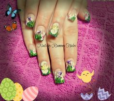 Happy Easter! - hand painted nail art, Easter nails Art, Easter Nail Design#2014 Easter Chick Nails#2014 Easter Eggs Nails