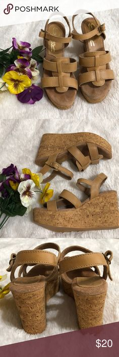 BRAND NEW Tan Wedges Bought these for my mom as a gift but she never wore them! Great addition to your spring wardrobe! Shoes Wedges