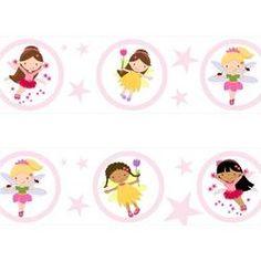 Faixa De Parede Infantil Border Adesivo Decorativo Fada Fadinha Fadas M12