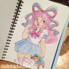June 21st #dailydrawing [Giffany]. I thought I was done drawing Gravity Falls and then I watched the Giffany episode so I just had to. #art_daily #artstagram #illustrationdaily #sketchbookdaily #mosseryco #watercolors #koiwatercolors #gravityfalls #giffany #soos #soosramirez #soosandtherealgirl #instaartist #igdraws #creative_instaarts #illustratenow #abeautifulmessapp