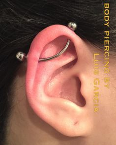 Fresh custom bent industrial with an @anatometalinc barbell #piercing #bodypiercing #philly #philadelphia #southstreet #AssociationofProfessionalPiercers #appmember #safepiercing #NoKaOiBodyPiercing #thepiercingsociety #instagood #instacool #jewelry #bodyjewelry #picoftheday #mybodymod #legitpiercingslook #legitbodyjewelry #anatometal #industrial  (at NoKaOi Tiki Tattoo and Piercing)