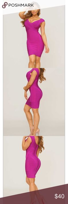 Posh Shop Gianna Bandage Dress Posh Shop Gianna Bandage Dress. Magenta-Violet. Size Small. Never worn. Posh Shop Dresses