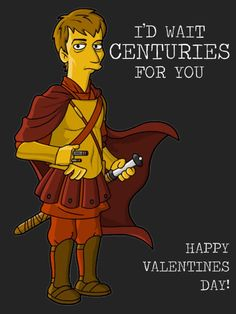 Simpsonized Doctor Who Valentine's Day cards by Springfield Punx