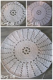: Virkatun maton ohje Crochet Rug Patterns, Crochet Doilies, Easy Crochet, Crochet Stitches, Crochet Fashion, Blanket, Diy, Google, Farmhouse Rugs