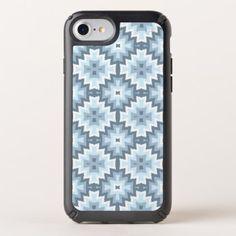 Stylish Pastel Blue Gray White Ikat Tribal Pattern Speck iPhone Case - modern gifts cyo gift ideas personalize