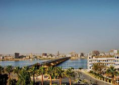 Akhmem bridge & Al-Nile Hotel . Sohag , Egypt .