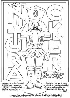 Printable Nutcracker Coloring Pages. Here are some nice Nutcracker coloring pages, from Disney's fairy tale movie The Nutcracker and the Four Kingdoms (The Nutc Dance Coloring Pages, Free Coloring Sheets, Coloring Book Pages, Nutcracker Image, Nutcracker Christmas, Christmas Colors, Christmas Art, Illustration Noel, Mood Colors